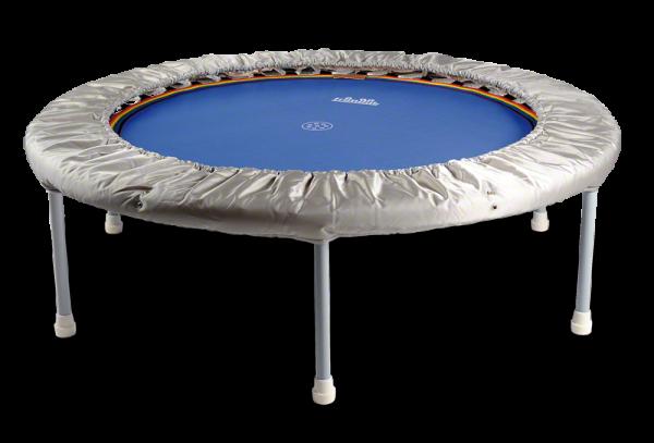 Trimilin Vario 120-35 Trampolin mit Vario-Kabel bis 100 kg Körpergewicht Ø 120 cm - Höhe 35 cm Matte blau - Randbezug silber