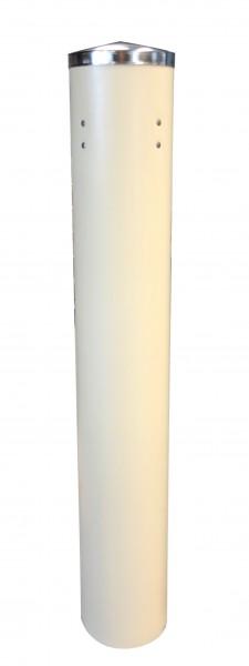 Becherspender 1-teilig für Kunststoffbecher mit oberem Ø 70 - 85 mm Länge 60 cm weiß