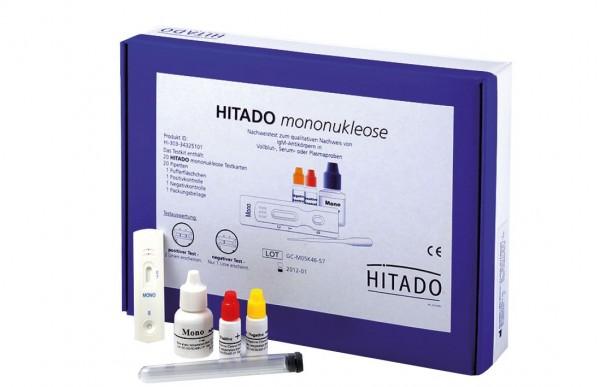 Mononukleose Hitado zum Nachweis heterophiler Antikörper in Vollblut, Serum oder Plasma