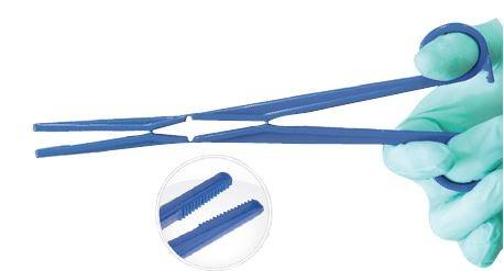 Einmalinstrument Kugelzange Kelly Kunststoff 220 mm blau