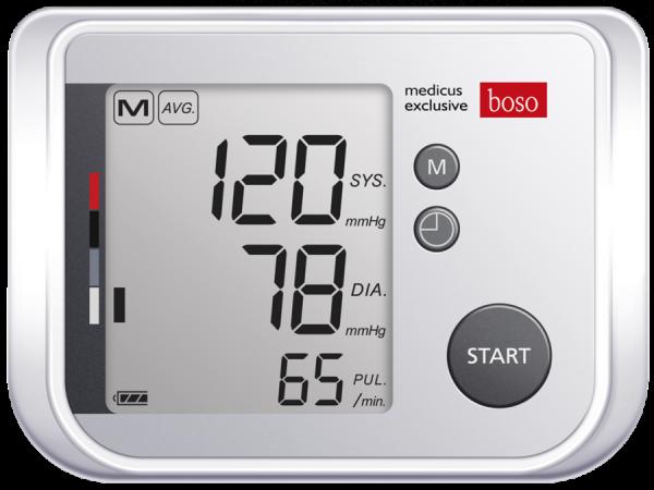 Blutdruckmesser digital boso medicus exclusive XL inkl. XL-Zugbügel-Klettmannschette und hochwertigem Etui