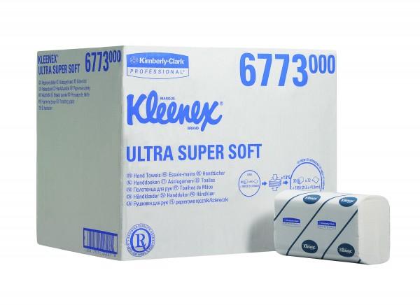 Papierhandtücher KLEENEX® ULTRA SUPER SOFT 3-lagig - interfold - AIRFLEX 21,5 x 41,5 cm hochweiß