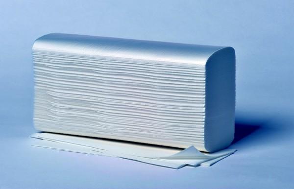 Papierhandtücher Fripa - Multifalz 2-lagig - W-Falzung - 100 % Zellstoff ca. 23,5 x 32 cm hochweiß