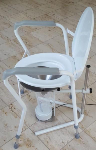 Miktionsstuhl MT-11202 höhenverstellbar 42 - 64 cm B x T: 60 x 50 cm, weiß.