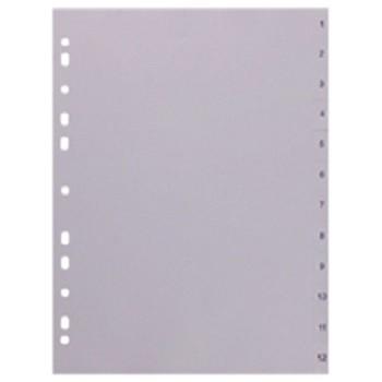 Register 1 - 12 Durable - Kunststoff 12-teilig DIN A4 - 120 mμ.
