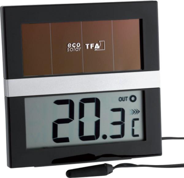Maxima-Minima-Thermometer digital -solarbetrieben