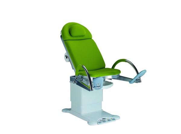 Unters.- und Behandlungsstuhl mit elektrischer Höhen-, Rücken und Beckenverstellung Stellfläche: 860 x 550 mm stone