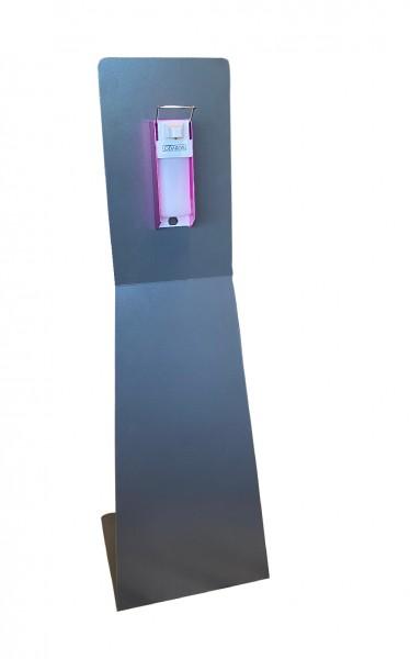 Desinfektionsständer Alu pulverbeschichtet mit Spender für 500 ml