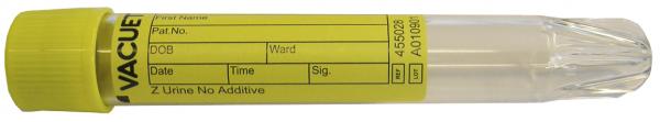 Vacuette® Röhrchen Z Urin ohne Zusatz Spitzboden 9,5 ml - 16 x 100 mm gelb