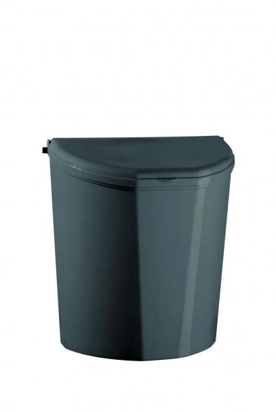 Abfallsammler tomo mit Deckel und Halterung zur Wandmontage 10 Liter - B x T x H: 310 x 180 x 315 mm grau RAL 7045