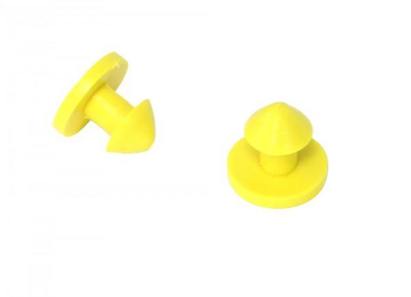 Befestigungsknopf für Gummiband.
