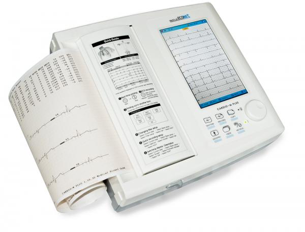 """12-Kanal-Ruhe-EKG Cardio M Plus mit 7"""" Touchscreen Farbdisplay"""