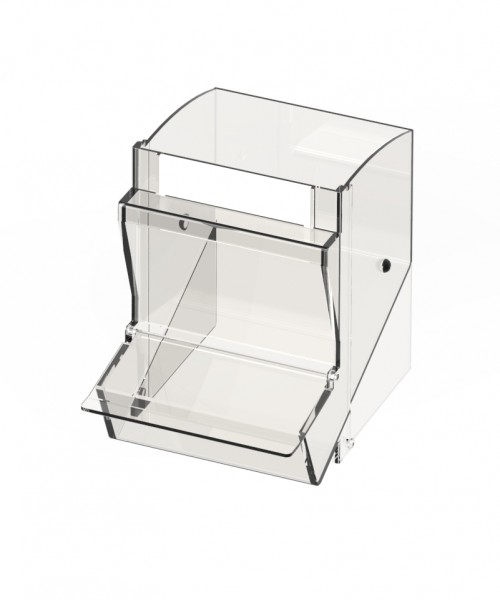 Einzelschütte klein inkl. Staubschutzdeckel passend für PicBox® mit 5 kl. Schütten B x T x H: 110 x 145 x 150 mm.