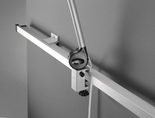 Norm-Wandschienensystem für Waldmann Leuchten inkl. 2 Halter 25 x 10 mm, 1m lang.
