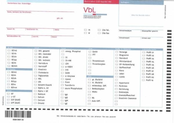 VBL-Schein Basislabor GOÄ (LG Privat)