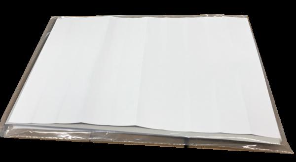 Selbstklebender Reparaturstreifen für im Falz aufgerissene oder beschädigte DIN A5 Karteikarten.
