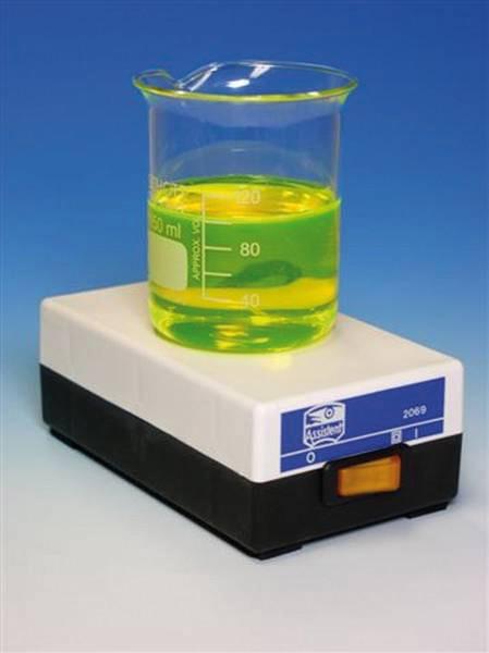 Mini-Magnetrührer, CE für Volumen bis 1 Liter 147 x 177 x 49 mm - Gewicht: ca. 350 g.