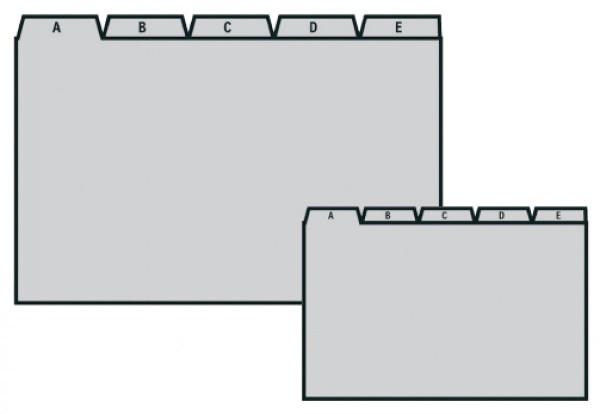Leitkartenregister A - Z Kunststoff - Durable