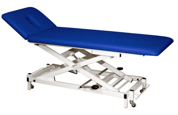 Therapie- und Behandlungsliege VARIO Nr. 1 elektrisch höhenverstellbar L x B x H: 198 x 65 x 50 - 93 cm atoll - Gestell RAL 9010 weiß