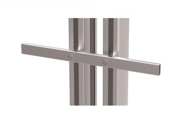 Normprofilschiene zur Befestigung vorne an den Profile B x T x H: 330 x 10 x 25 mm.