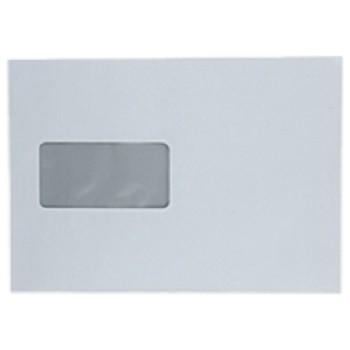 Versandtaschen mit Fenster haftklebend DIN C5 - 162 x 229 mm - 100 g, weiß.