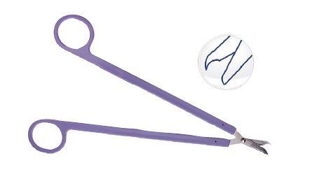 Einmalinstrument Fadenschere Long Scisors 220 mm lila