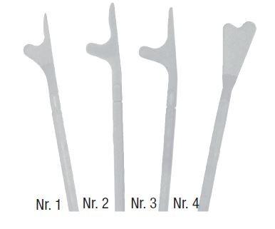 Szalay Cyto Spatel Nr. 4 Schaftdicke 5 mm 220 mm