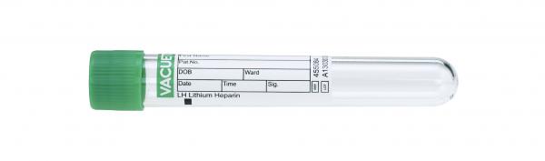 Vacuette® Röhrchen LH Lithium Heparin 9 ml - 16 x 100 mm grün/schwarz