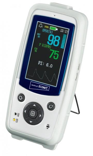Handpulsoximeter Palmcare Pro mit Farb-Display inkl. Fingersensor für Erwachsene, Kinder und Säuglinge geeignet!