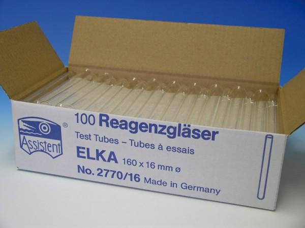 Reagenzglaser ELKA AR-Glas, runder Boden,