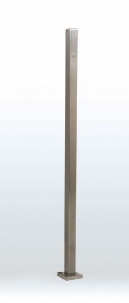 Standsäule aus Edelstahl für RLP/W zur Montage frei im Raum H: 165 cm.