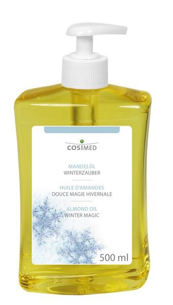 Massageöl Mandelöl Winterzauber mit Dosierspender 500 ml
