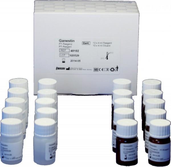 Ganestin Thromboplastin inkl. INR-Wertetabelle