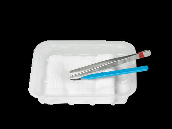 Fadenzieh-Set zum Entfernen von Wundfäden und zur Wundreinigung