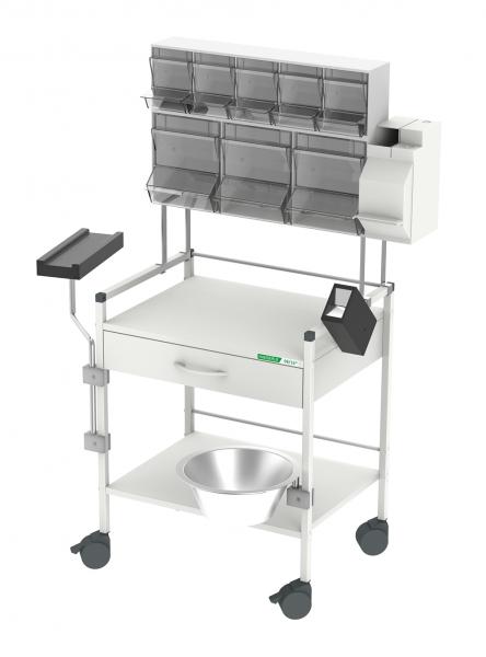 08/16® Injektionswagen 60 PicBox® Plus Rollen Ø 75 mm (2 feststellbar) B x T x H: 600 x 450 x 1.290 mm