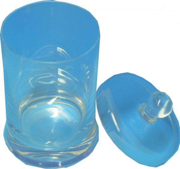 Zylinder aus Glas mit Überfall-Glasdeckel