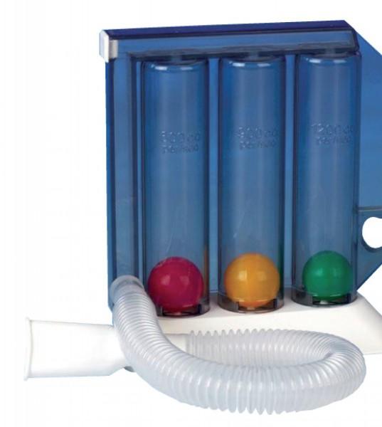 Atemtrainer Pulmo-Gain mit Luftfilter, Mundstück und