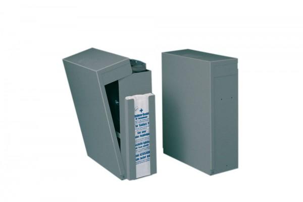 Wandabfallsammler Klapp-Kuli ideal für Toiletten B x T x H: 310 x 140 x 420 mm aluminiumfarben