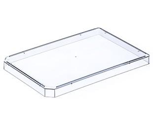 PS-Abdeckplatten hohes Profil einzeln verpackt