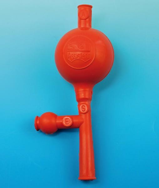 Pipettierball Universalmodell für Mess- und Vollpipetten bis 100 ml, rot.