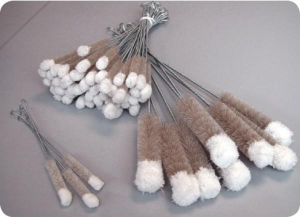 Reagenzglasbürste mit Wollbüschel