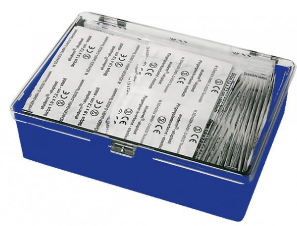 Extraset Pflaster-Mehrbedarf in Kunststoffbox mit anscharniertem Transparentdeckel 160 x 112 x 47 mm.