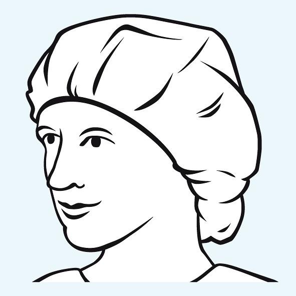 Foliodress® cap Comfort Univ. OP-Baretthaube mit Gummizug im Entnahmekarton Ø 52 cm.