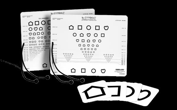 Sehtest - Nähe LEA™ - Symbole - Karte Visus: 0.05 bis 2.00 (40 cm) 20,3 x 25,4 cm
