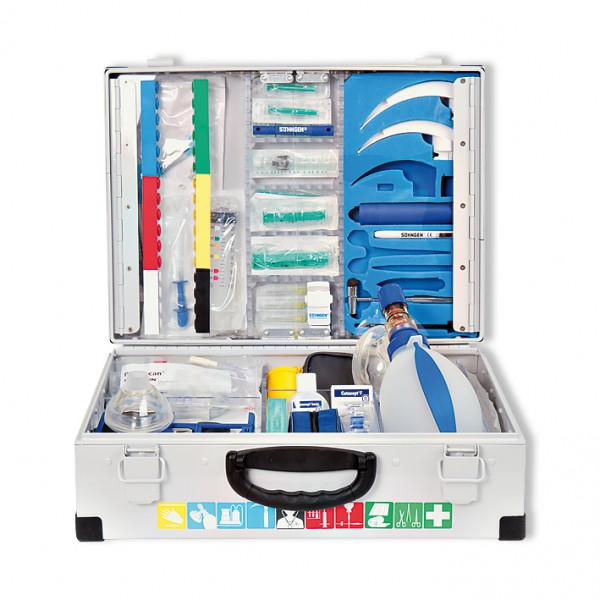 EUROMED Notfallkoffer (A+B) Erwachsene nach DIN 13232 Gewicht gefüllt ca. 12 kg.