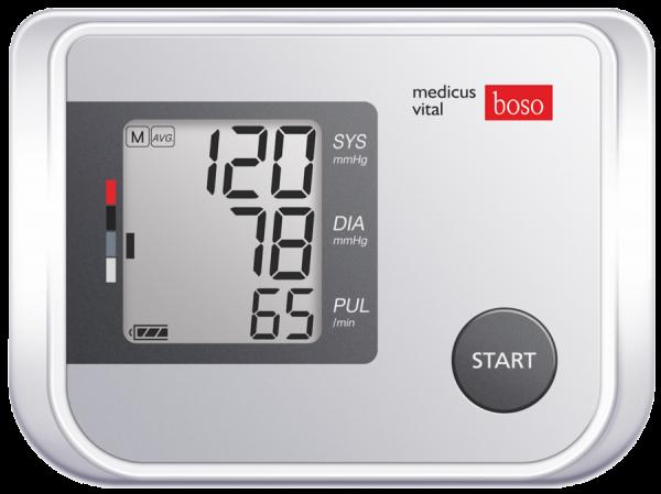 Blutdruckmesser digital boso medicus vital XL inkl. XL-Zugbügel-Klettmannschette und Tasche