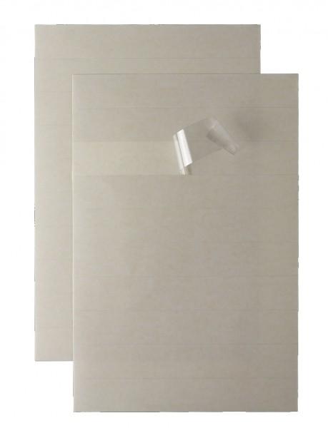 Verstärkerstreifen A4 zum Reparieren und Vorbeugen für alle Karteisysteme DIN A4 geeignet Streifenmaß: 305 x 35 mm, transparent.