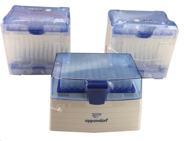 ep T.I.P.S. Set 1 Mehrwegbox inkl. 5 Trays á 96 Tips 50 - 1.000 µl