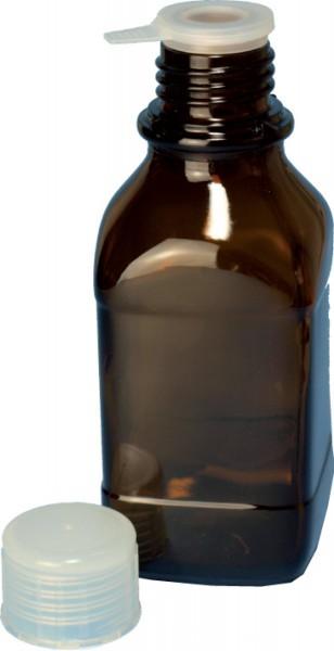 Gewindeflasche, Braunglas mit Schraubverschlußkappe