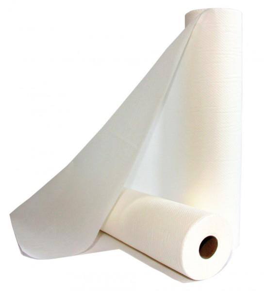 Liegenrollen Fripa-med nova-line 1-lagig - 100 % Zellstoff 55 cm x 100 m - Abriss: 38 cm hochweiß.